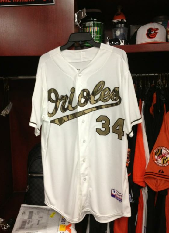 Baltimore Orioles Camouflage Jersey 2012