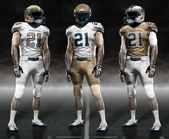 Geogia Tech new uniforms jerseys jersey football concepts mockups