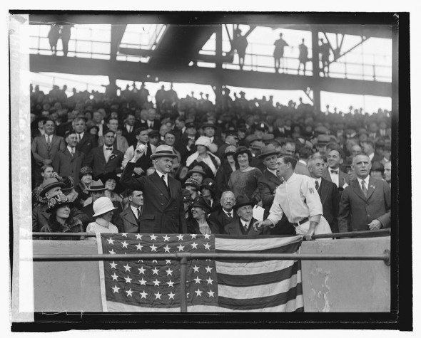 Washington Nationals Throwback to the Senators Coolidge first pitch