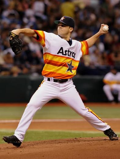 Houston Astros 1970s Rainbow Guts Throwback Uniform