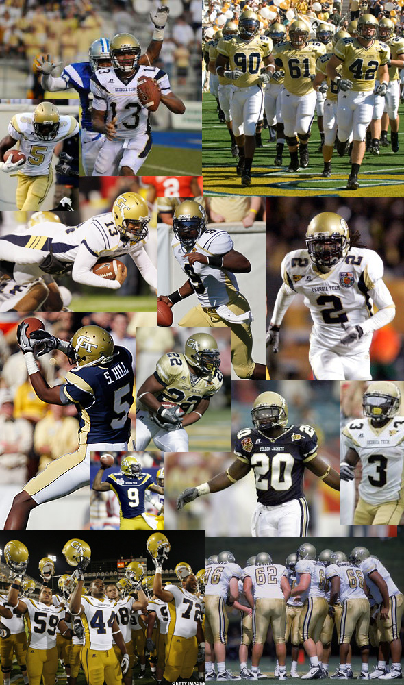 Georgia Tech new uniforms jerseys over the years 2000s inconsistent