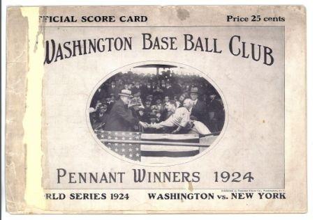 Washington Nationals Throwback to the Senators program cover base ball