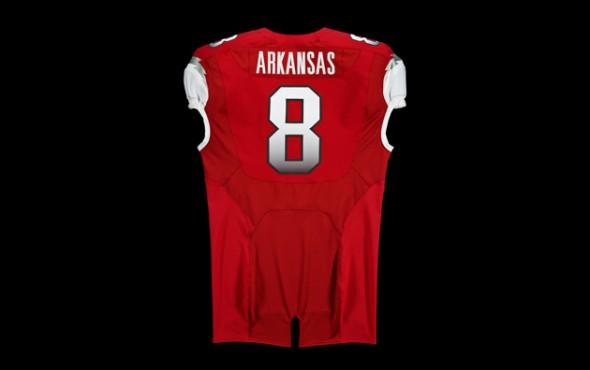 New Arkansas Uniforms jerseys razorbacks ncaa football