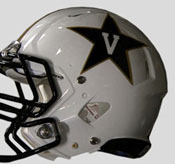 Vanderbilt Commodores New Uniform 2012 white helemt closeup