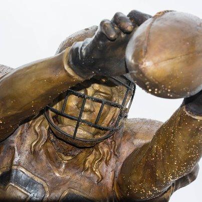 Saints vs Falcons stadium statue situation gleason closeup