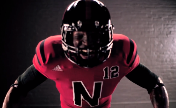 Nebraska Alternate Uniforms Against Wisconsin close