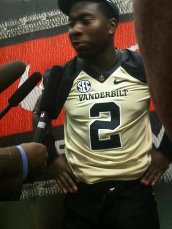 Vanderbilt Commodores New Uniform 2012 gold black