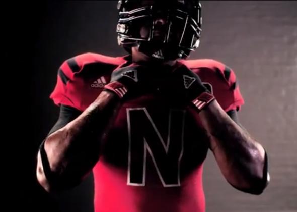 Nebraska Alternate Uniforms Against Wisconsin stripes