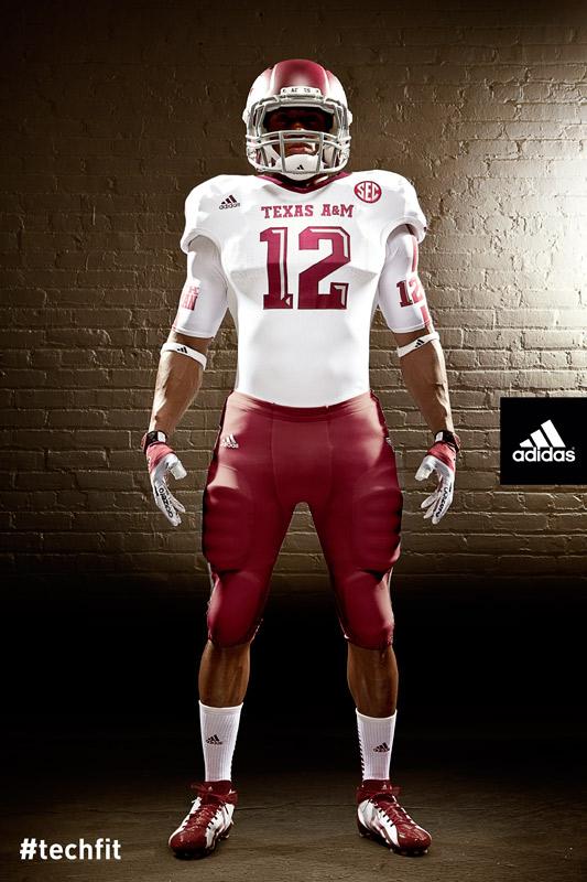 Texas A&M Aggies new jerseys uniform Adidas white-3