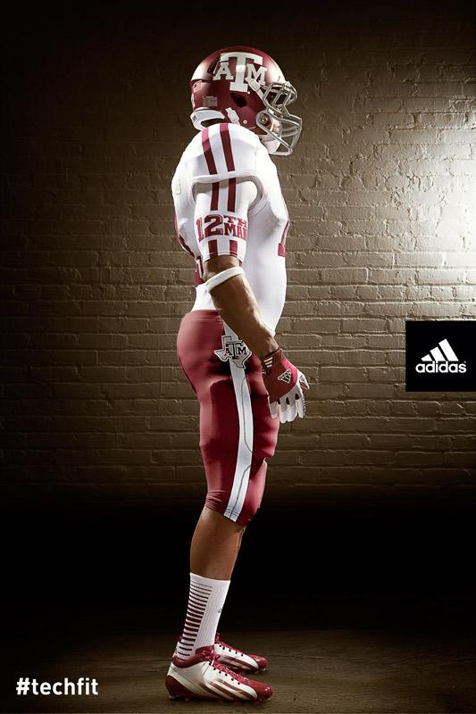 Texas A&M Aggies new jerseys uniform Adidas white-6
