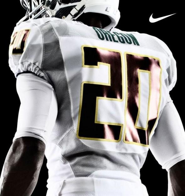 Oregon Ducks 2012 New Uniforms - White Set