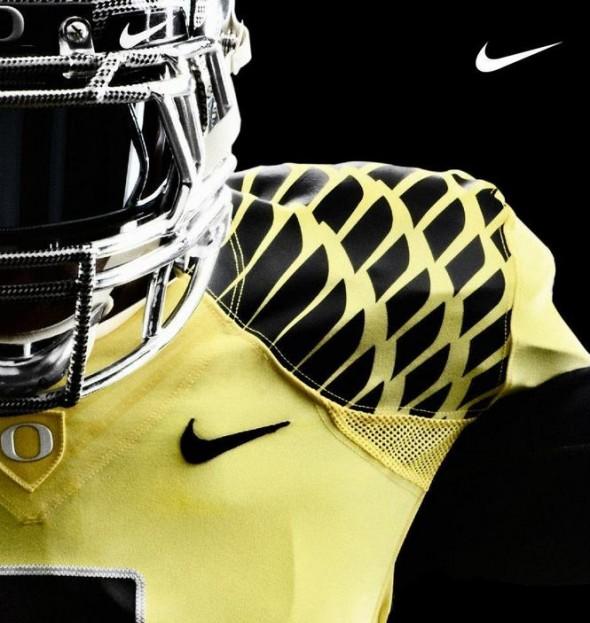 Oregon Ducks 2012 New Uniforms - Yellow Black wings