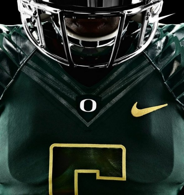 Oregon Ducks 2012 New Uniforms - Dark Green Neck
