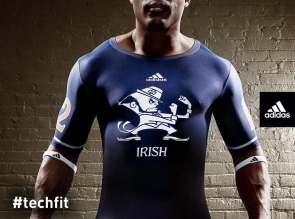 Notre Dame Shamrock Series new uniforms undershirt