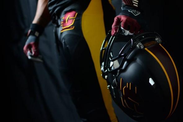 Central Michigan Chippewas new uniforms adidas black helmet