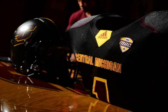 Central Michigan Chippewas new uniforms adidas grey shoulder