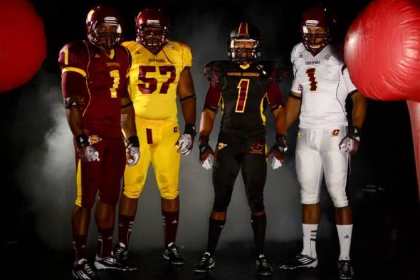 Central Michigan Chippewas new uniforms adidas all 4