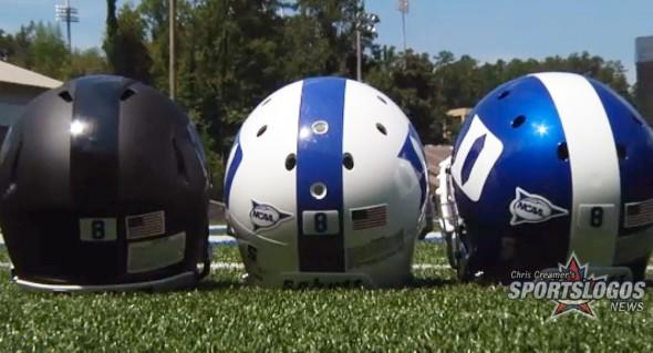 Duke Blue Devils New Helmets Black Matte Flat Blue 8 stickers