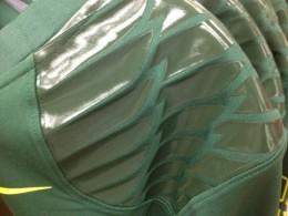 Oregon Ducks 2012 New Uniforms - Dark Green shoulders