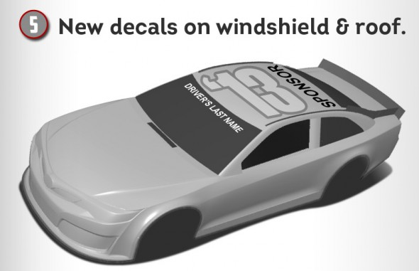 NASCAR 2013 rule changes camry fusion ss chevrolet ford toyota - decals
