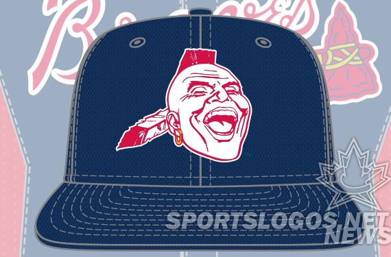 Atlanta Braves Batting Cap hat 2013 indian logo - featured