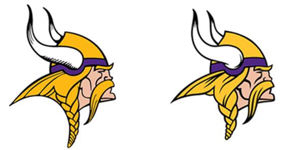 old and new Minnesota Vikings 2013 New Logo