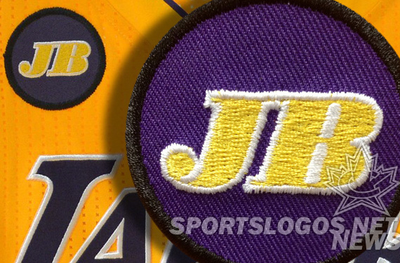 featured - LA Los Angeles Lakers Jerry Buss memorial patch jersey