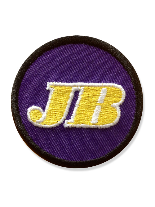 closeup - LA Los Angeles Lakers Jerry Buss memorial patch jersey