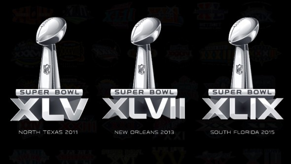 Superbowl logo history terrible templated design