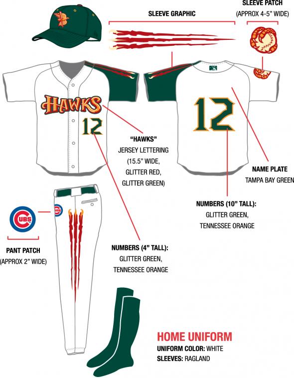 home Design sheet - Boise Hawks Northwest League uniforms brandiose