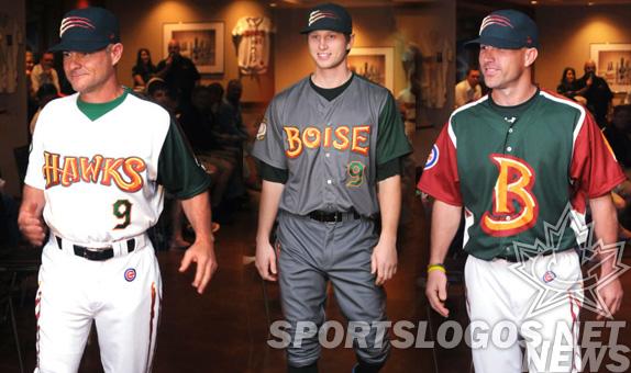 featured - Boise Hawks Northwest League uniforms brandiose