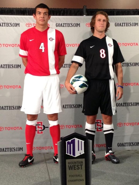 Men's Soccer - SDSU New Logo New Uniforms San Diego State Aztecs
