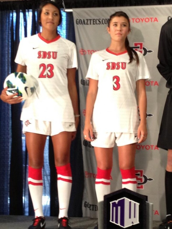 Women's Soccer - SDSU New Logo New Uniforms San Diego State Aztecs