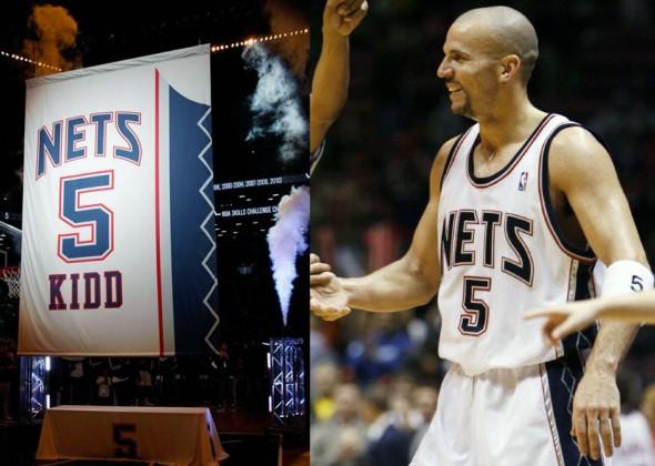 Jason Kidd Jersey Retirement Banner - Nets