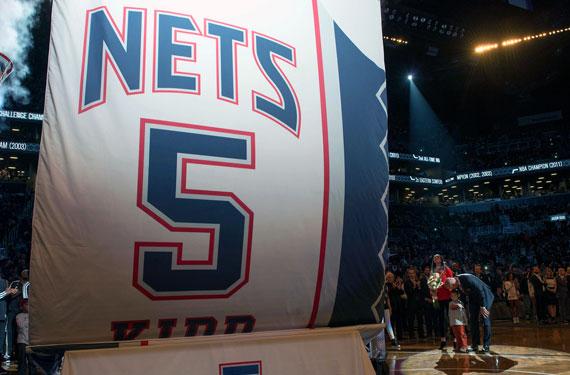 Jason Kidd Retired Jersey Banner Brooklyn Nets