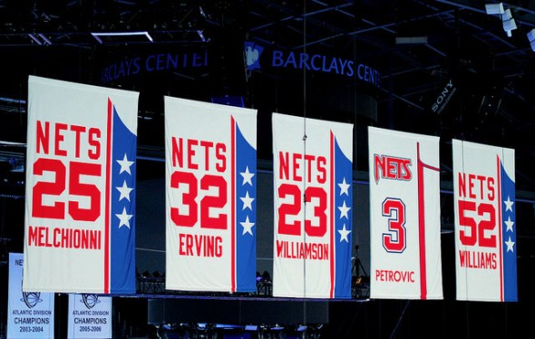 New Jersey Brooklyn Nets Retired Jersey Numbers