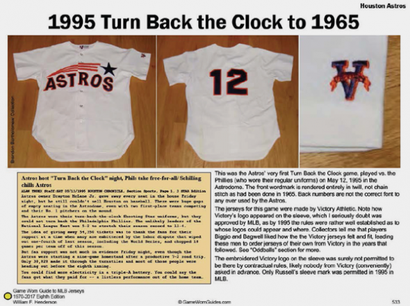 A page in the book explains what the Astros got wrong in their first attempt at a throwback.