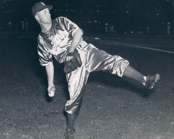 The Dodgers wore shiny satin uniforms in the 1940s to aid visibility during night games