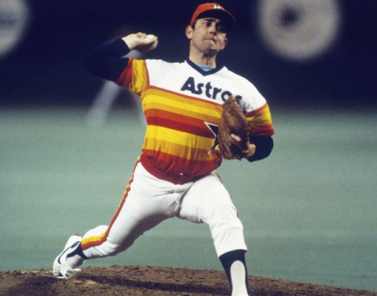 The infamous Astros Rainbow uniforms, worn from 1975 - 1986