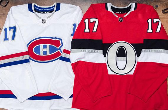 Canadiens, Senators Unveil Uniforms for NHL100 Classic