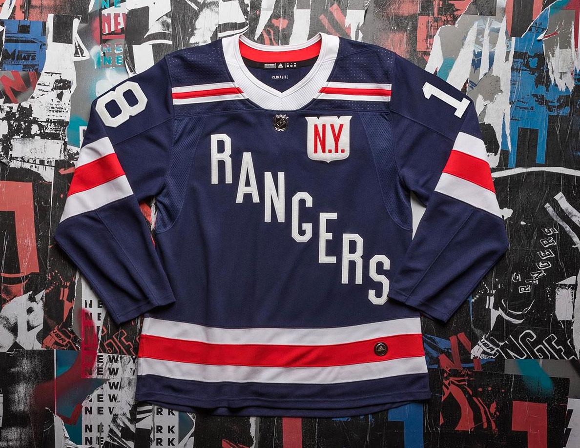 New York Rangers Unveil Uniform for 2018 Winter Classic