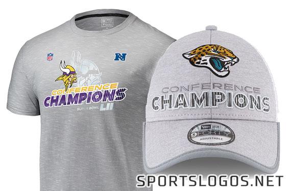 Phantom Merch: Jaguars, Vikings 2017 Conference Champs