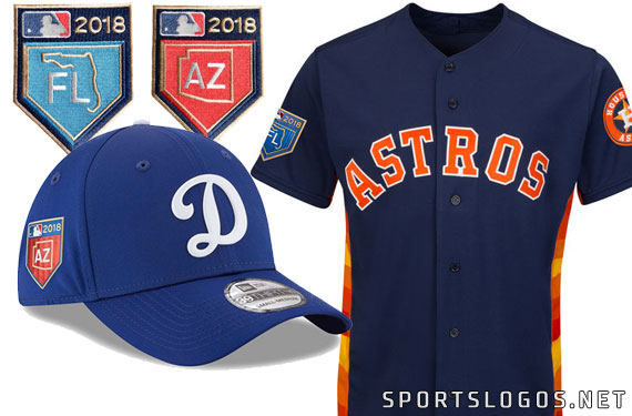 MLB Releases 2018 Spring Training Jerseys, Caps, Shirts