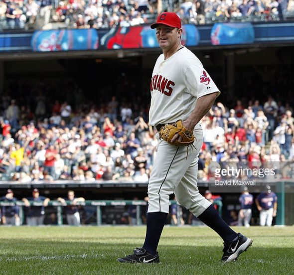 Jim Thome's only on-field appearance wearing the block-C ballcap (September 25, 2011)