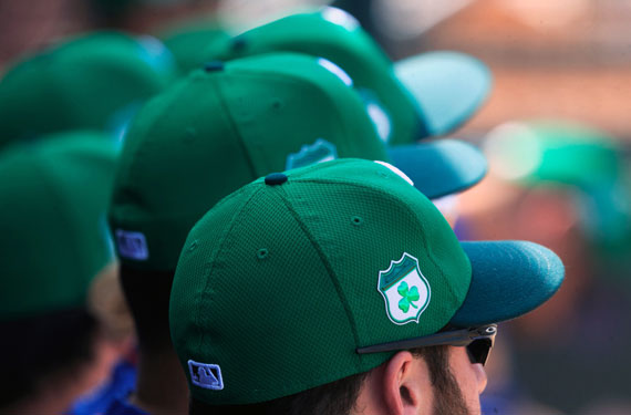 MLB Teams Wearing Green Caps, Jerseys on St Patrick's Day