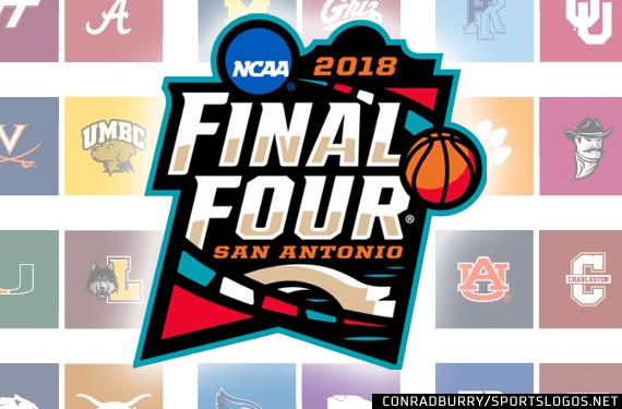 2018 NCAA Final Four Logo Court Bracket