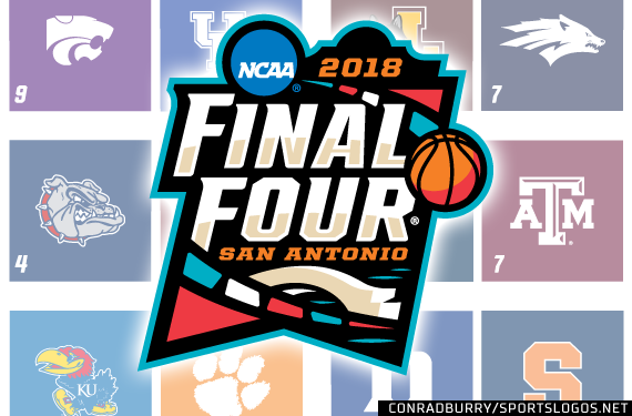 2018 NCAA Tournament Sweet Sixteen Logo Court Bracket