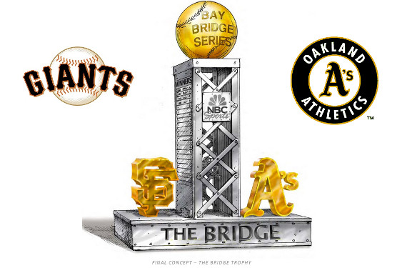 It started with a Tweet: The story behind the Bay Bridge Series trophy