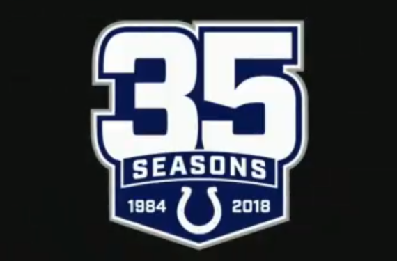 Colts celebrate 35 seasons in Indianapolis with commemorative logo