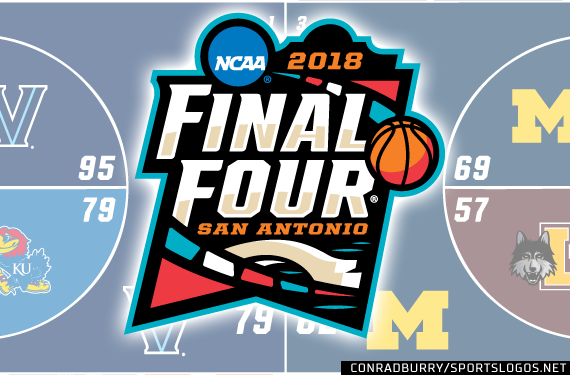 2018 NCAA Tournament National Championship Logo Court Bracket